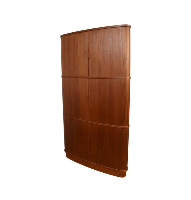 Tambour Teak Corner Cabinet by Skovmand and Andersen Danish Modern by HearthsideHome