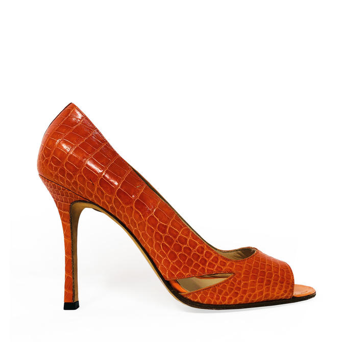 deaef30d1931b Manolo Blahnik Crocodile Heel from Secondi of Dupont Circle ...