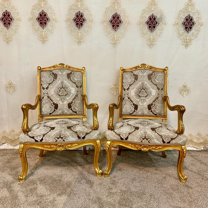 Vintage Chair French Chair Vintage Furniture Settee Interior Designer *3 Piece Available Baroque Furniture Rococo Vintage Sofa French Settee by SittinPrettyByMyleen
