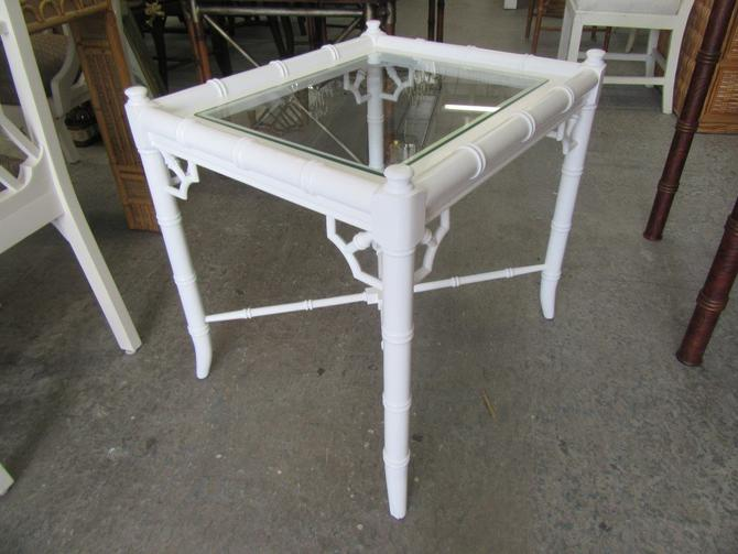 Faux Bamboo Side Occasional Table