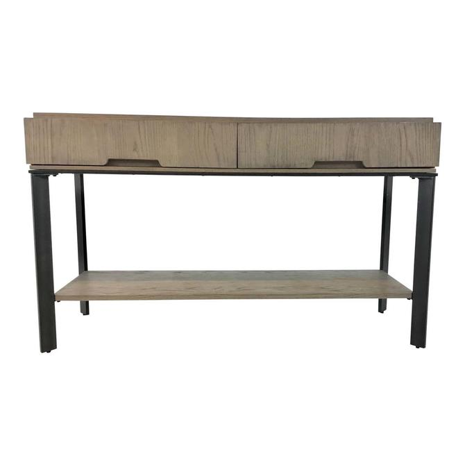 Organic Modern Wood and Metal Console Table