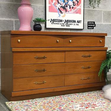 LOCAL PICKUP ONLY ———— Vintage Bassett Dresser by RetrospectVintage215