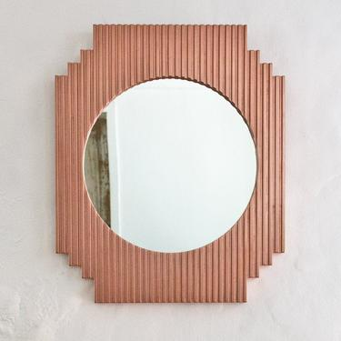 Fluted Mirror - Geometric - Copper by wrenandcooper