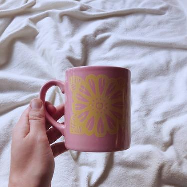 Vintage Pink Flower Coffee Mug | Grindley England | Ceramic Coffee Mugs | Pink and Yellow Butterfly Mug | Vintage Mug by BrassBluebonnets