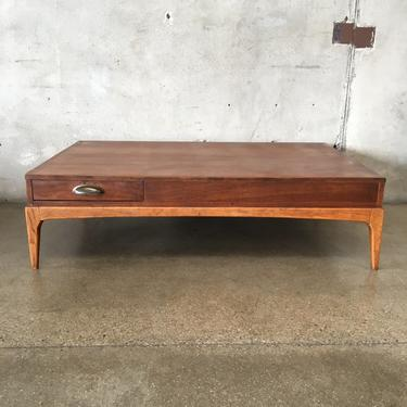 Mid Century Modern Lane Rhythm Collection Walnut Coffee Table