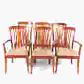Six Stickley Contemporary Cherry Dining Chairs