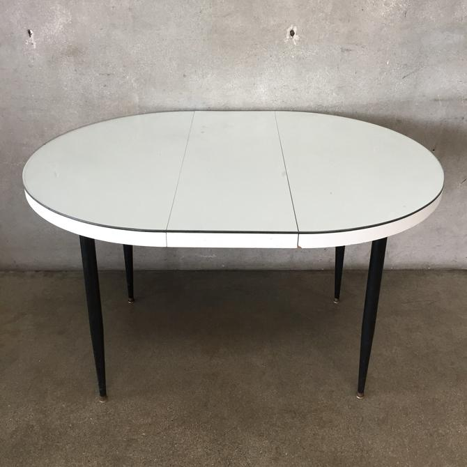 1950's Dining Table with Glass Top