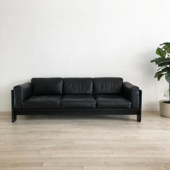 """1960s Gavina """"Bastiano"""" Italian Leather Sofa by Tobia Scarpa"""