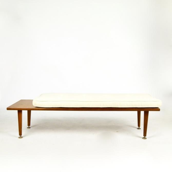 Walnut Bench with Cushion