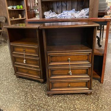 """Bedside chests. 3 drawers and a cubby. Italian made, different heights. 20"""" x11.5"""" x 29.5"""" or 20"""" x 11.5"""" x 28.5"""""""