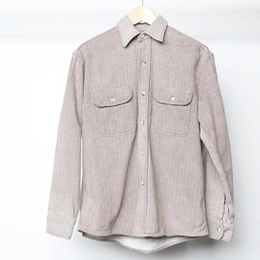 vintage FLANNEL nirvana kurt COBAIN 90s soft chevron flannel shirt size MEDIUM brown and white by CairoVintage
