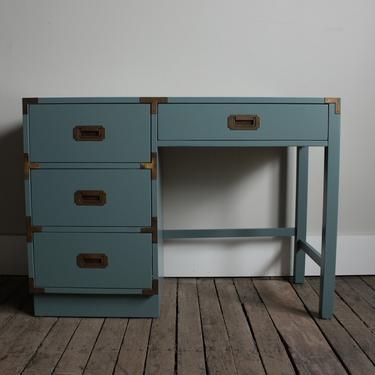 Single-Pedestal Campaign Desk - $250