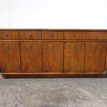 Drexel Accolade Campaign Dresser Chest Drawers Buffet Sideboard Console Chinoiserie Brass Storage Wood Cabinet Table Boho CUSTOM PAINT AVAIL by DejaVuDecors
