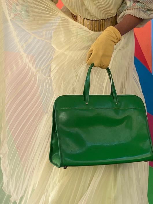 1950's Vintage Neon Green Purse by ShopRVF
