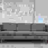 Vintage 1960's mid century upholstered sofa