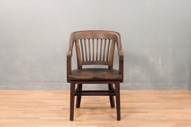 1920s Oak Banker's Chair – ONLINE ONLY