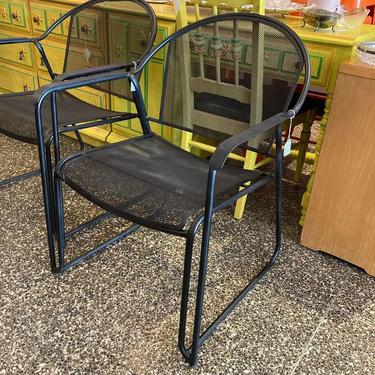 """Black wrought iron garden chair(s) 4 available 23.5"""" x 20"""" x 31"""" Seat height 15.5"""""""