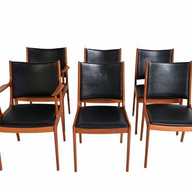 6 Teak Dining Chairs Johannes Andersen Uldum Mobler 7171 Danish Modern by HearthsideHome