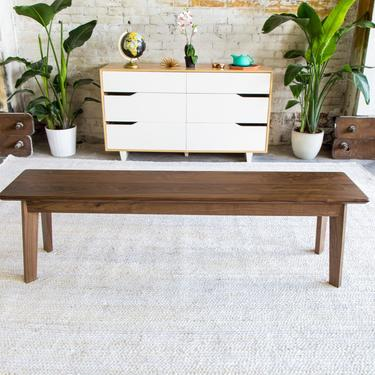 """Mid century Modern Bench, Dining Table Bench, """"The Vermonter"""" by moderncre8ve"""