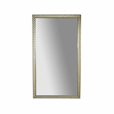 Vintage 7ft x 4ft Full Length Wall Mirror Ornate Silver Gilt Wood & Gesso Frame by PrairielandArt