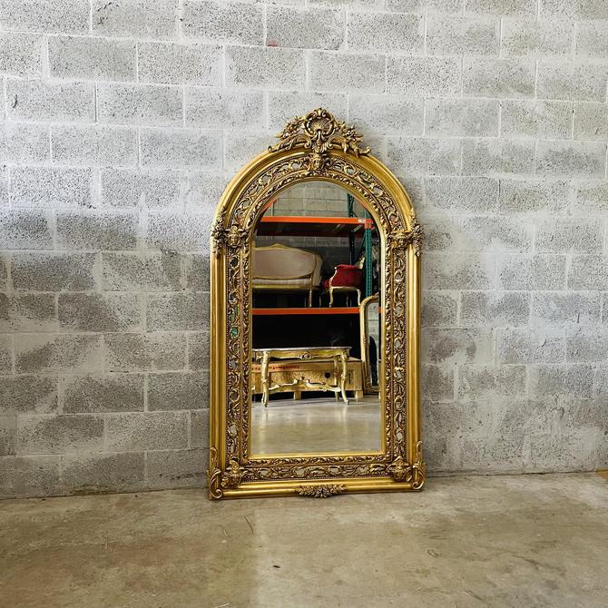 French Mirror *1 in Stock* 6 Feet Tall Baroque Mirror Rococo Mirror Antique Mirror Gold Leaf Antique Furniture Interior Design by SittinPrettyByMyleen