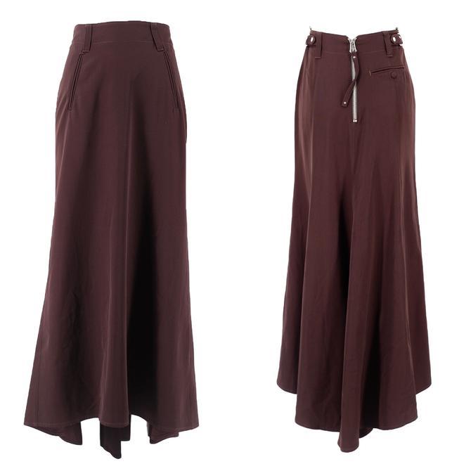 90s JPG mermaid skirt 6 / vintage 1990s Jean Paul Gaultier Femme brown maxi skirt M by ritualvintage