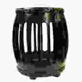 Chinese Oriental Black Round Barrel Wood Stool cs1803E by GoldenLotusAntiques