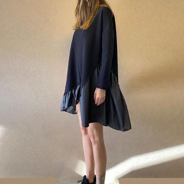 Ruffle Hem Long Sleeve Dress