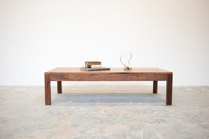 FREE SHIPPING Parsons Coffee Table - Solid Walnut by dylangrey