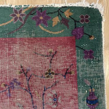 Chinese Rug 2' x 2' 10 Pink Nichols Art Deco Rug by JessiesOrientalRugs