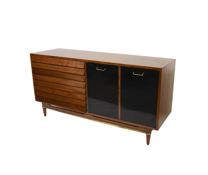 Walnut Credenza Server American of Martinsville Dania Line Designed by Merton Gershun Mid Century Modern by HearthsideHome