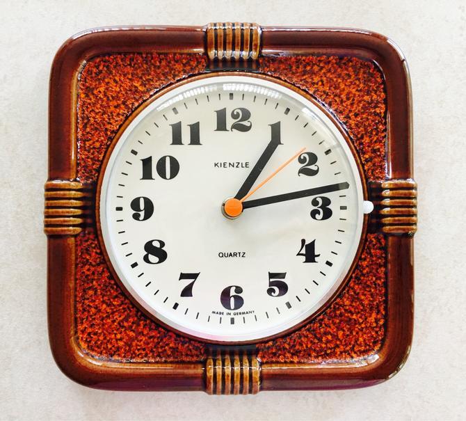 Mid Century Wall Clock Fat Lava Kienzle