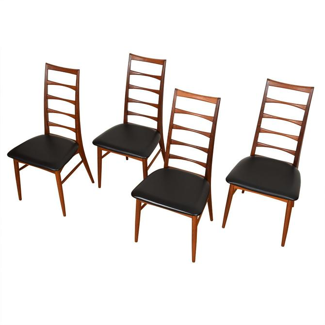 Set of 4 Side Koefoed Hornslet Danish Teak Dining Chairs