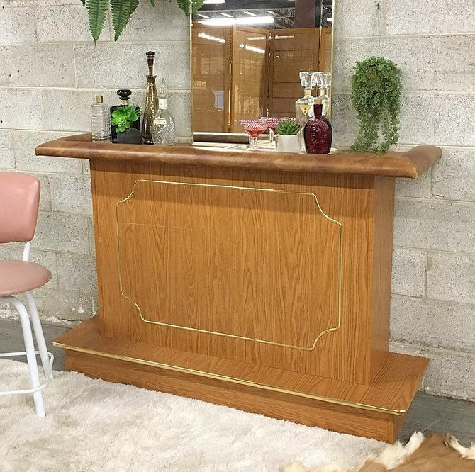 LOCAL PICKUP ONLY -------------- Vintage Wood Bar by RetrospectVintage215
