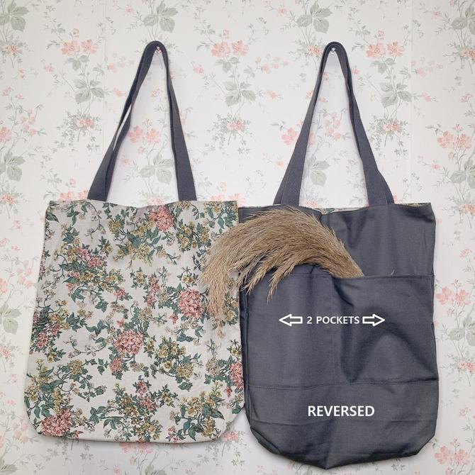 NEW** Reversible Eco Friendly Tote Bag made with 100% Cotton by HeyJanuary