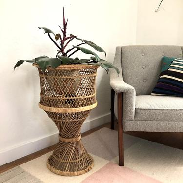 Vintage Wicker Plant Stand by SergeantSailor