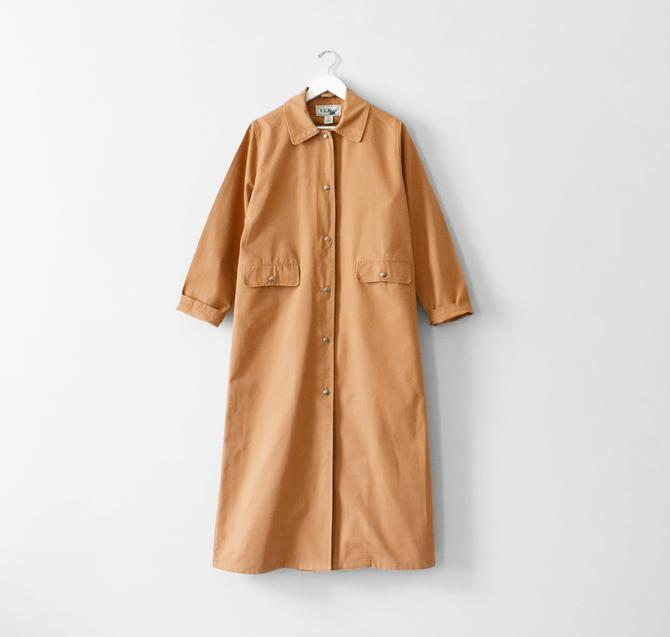 vintage LL Bean cotton canvas duster coat, size S by ImprovGoods