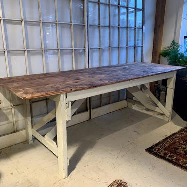 Vintage Painted Factory Table