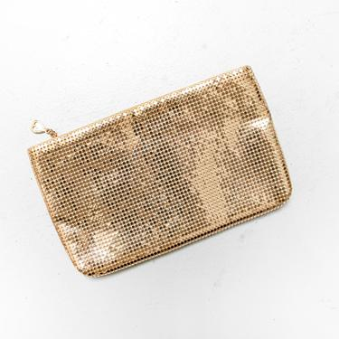 Vintage Whiting & Davis Purse 1970s Gold Mesh Metal Clutch Bag by dejavintageboutique