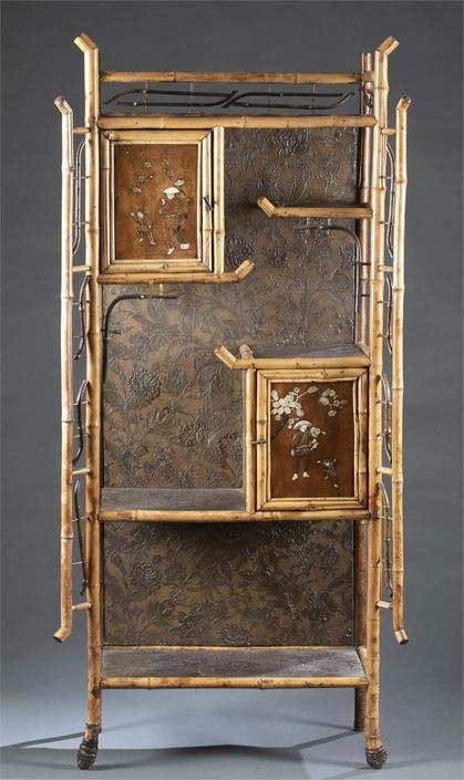 19th Century Chinoiserie Bamboo Cabinet