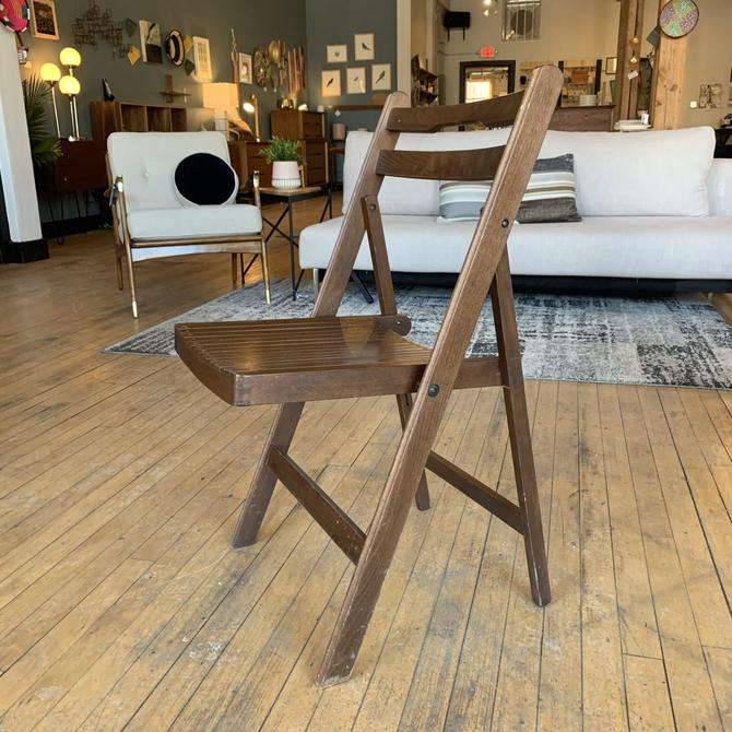 Set of 6 Vintage Wooden Folding Chairs