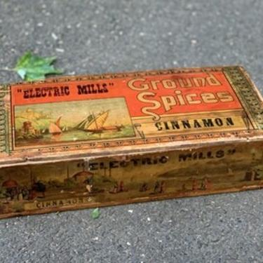 Vintage Wooden Box, Dovetailed Spice Box