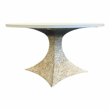 Made Goods Modern White and Silver Noor Dining Table