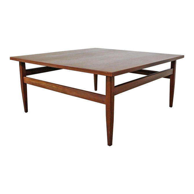 Mid-Century Coffee Table Danish Modern Square Teak Coffee Table by AnnexMarketplace