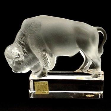 Lalique French Frosted Crystal Bison by ModernPicks