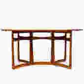 Danish Modern / Mid Century Teak Oval Drop leaf Dining Table — Peter Hvidt for France and Son by atomicthreshold