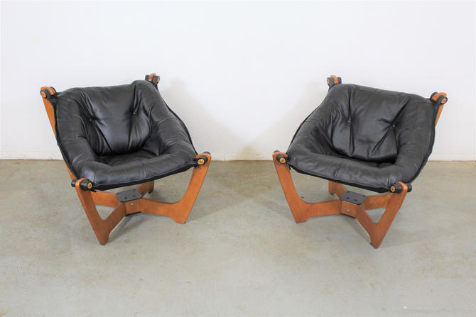 Pair of Mid-Century Danish Modern Odd Knutsen Lounge Chairs by AnnexMarketplace