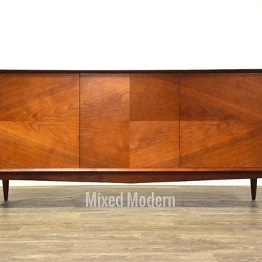 Walnut Mid Century Modern Credenza by mixedmodern1