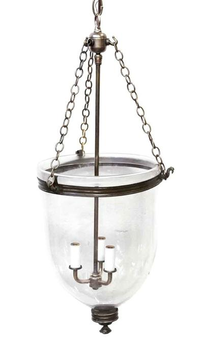 Clear Glass Bell Jar Light