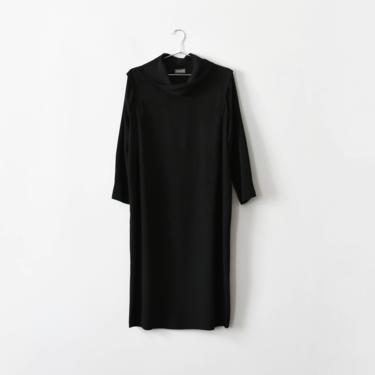 vintage black silk cowl neck midi dress, size M by ImprovGoods